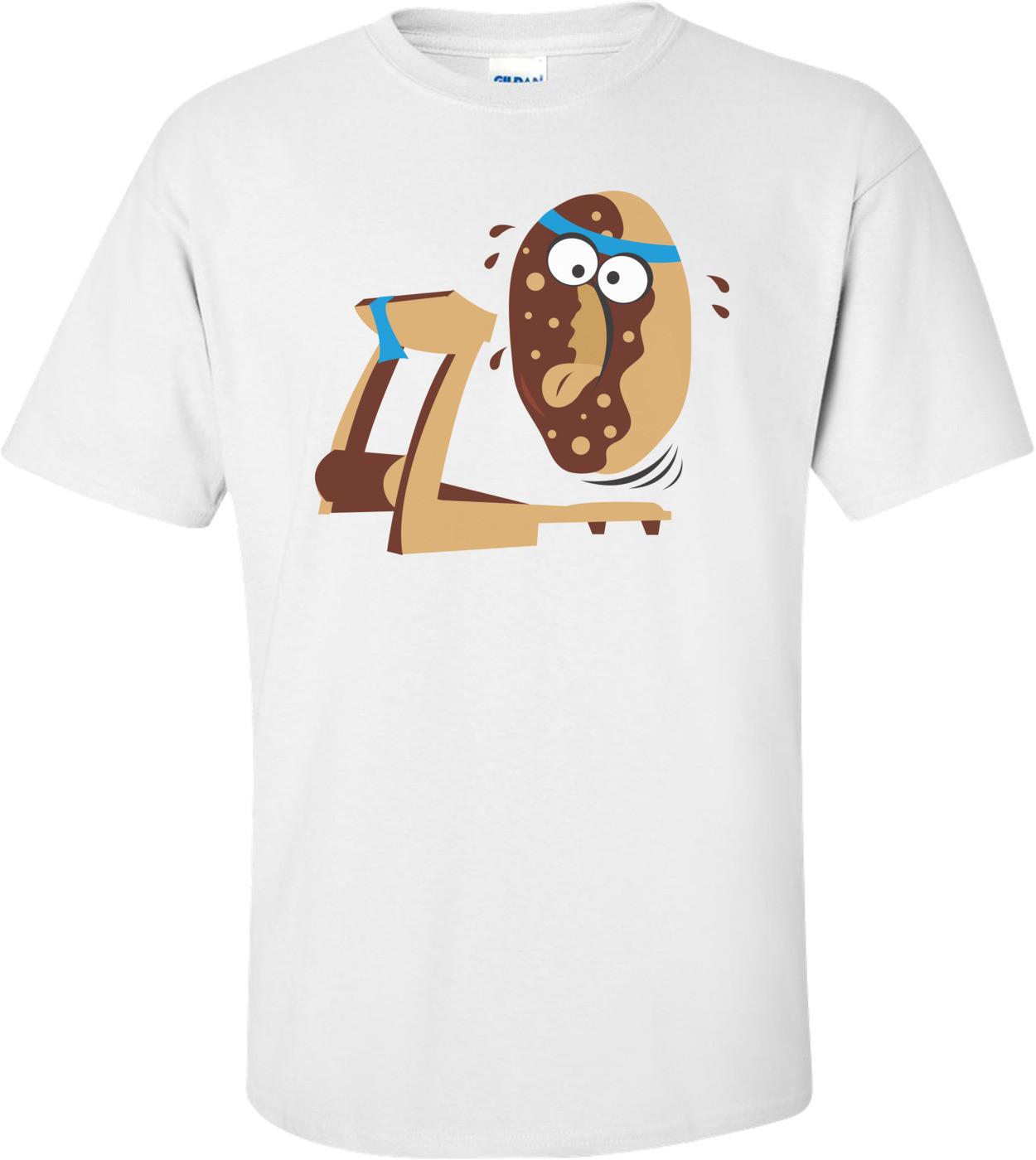 Donut On Treadmill Funny Shirt