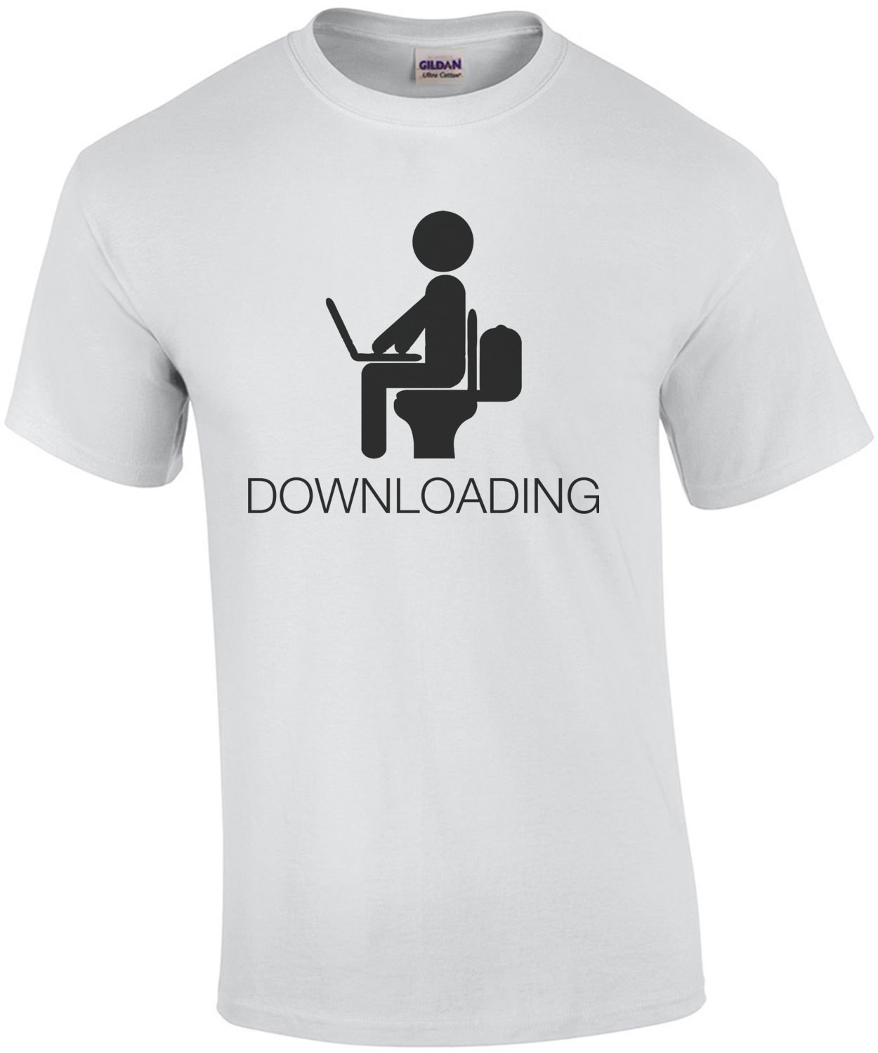 Downloading - Toilet Humor T-Shirt