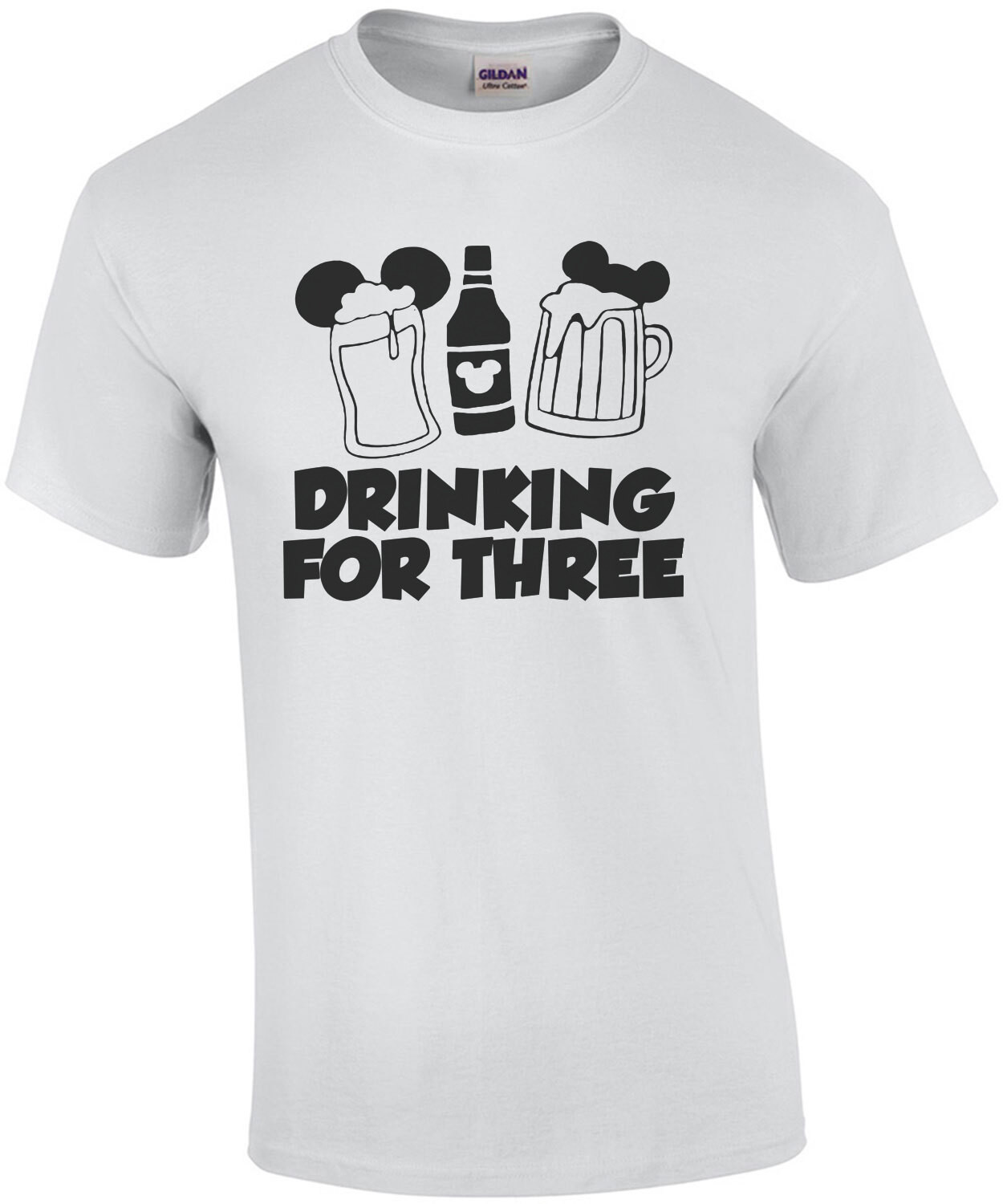 Drinking for 3 - Disney couples pregnancy t-shirt