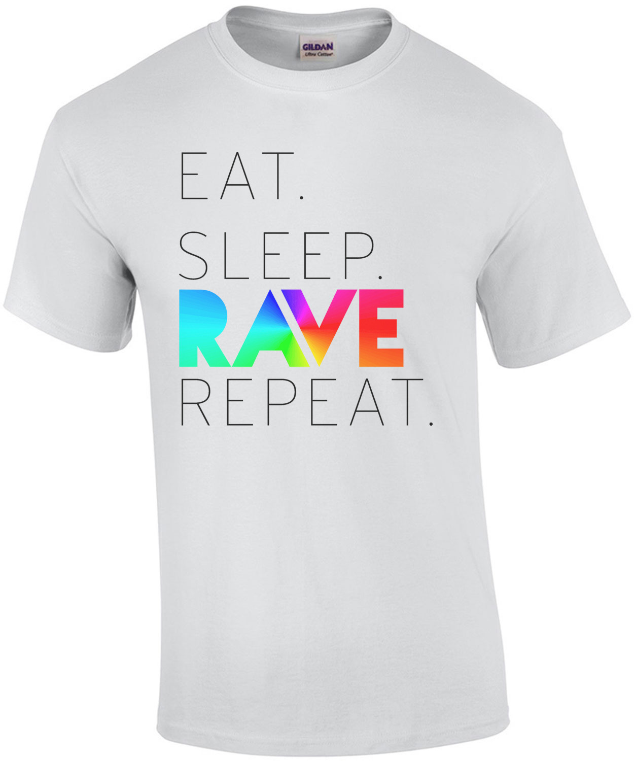 Eat. Sleep. Rave. Repeat. Funny T-Shirt