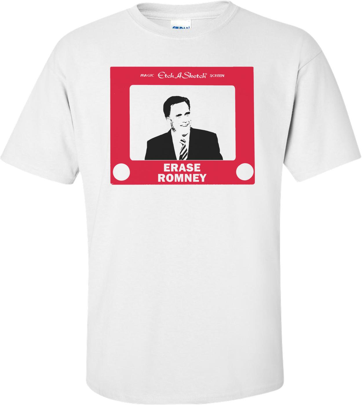 Etch A Sketch Erase Romney - Anti Mitt Romney Shirt