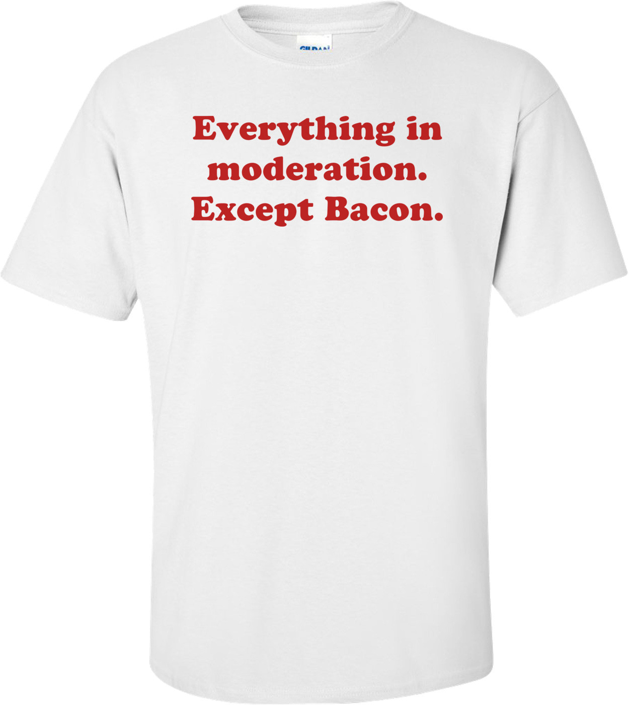 Everything in moderation. Except Bacon. Shirt