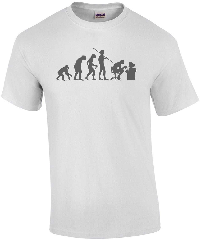Evolution Computer User - Funny Evolution T-Shirt