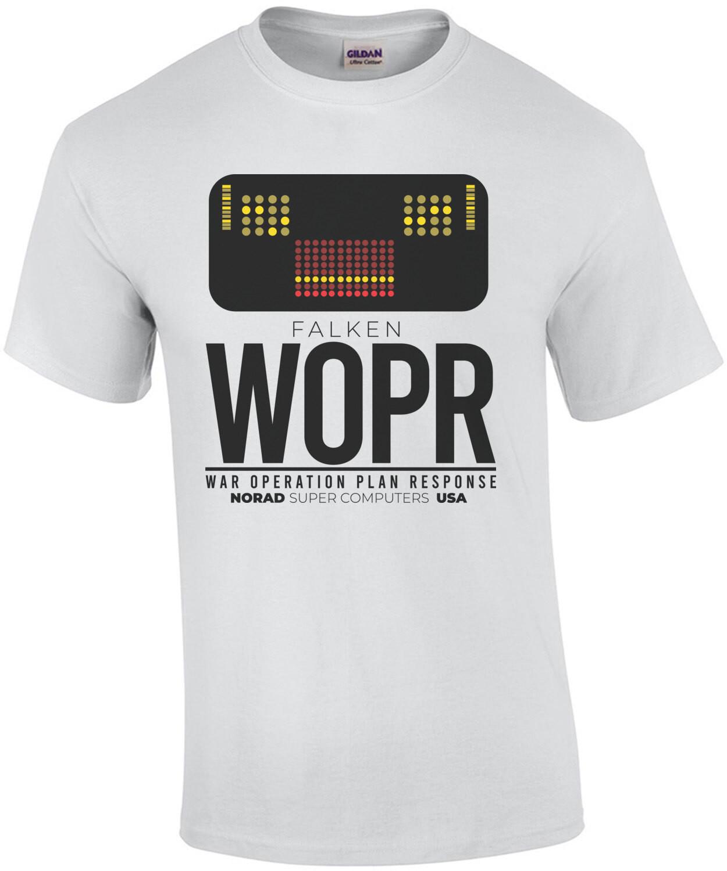 Falken WOPR - War Operation Plan Response - Norad Super Computers USA - War Games - 80's T-Shirt
