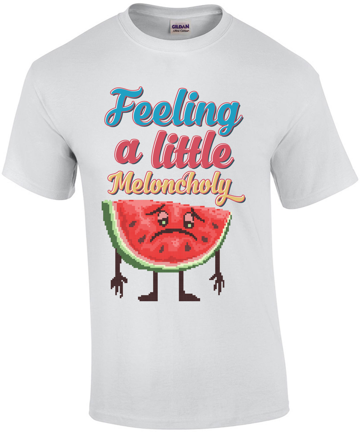 Feeling A Little Meloncholy Retro T-Shirt