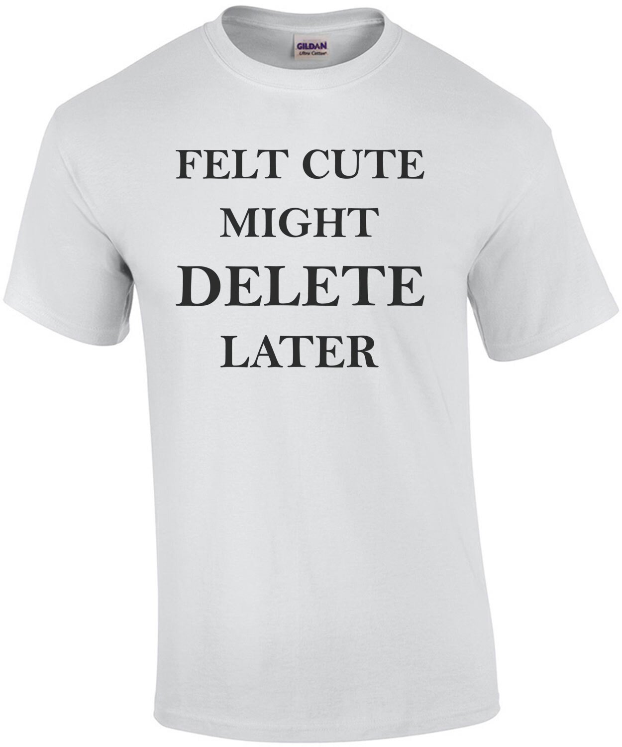 Felt Cute Might Delete Later - funny ladies t-shirt