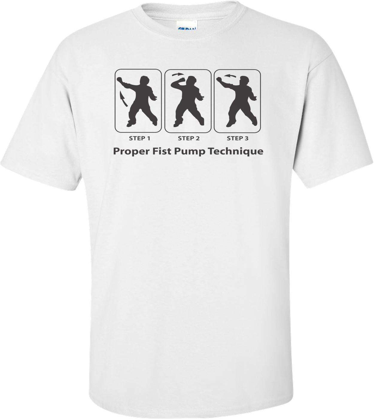 Fist Pumping Technique- Jersey Shore T-shirt