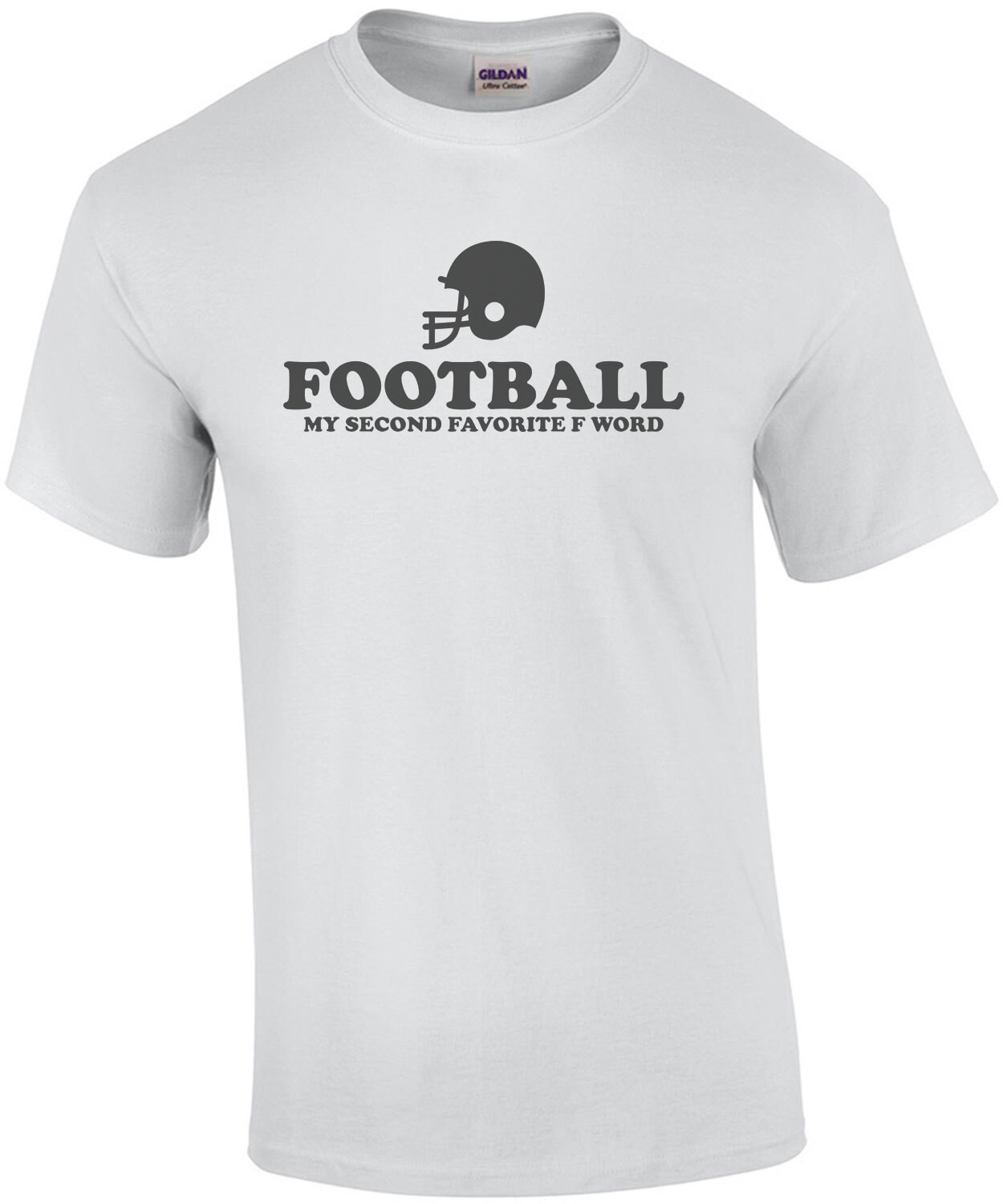 Football My Second Favorite F Word Funny Football Shirt