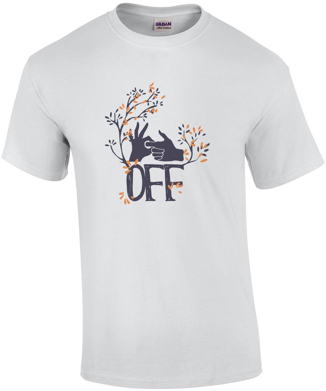 Fuck Off Hand Gesture T-Shirt