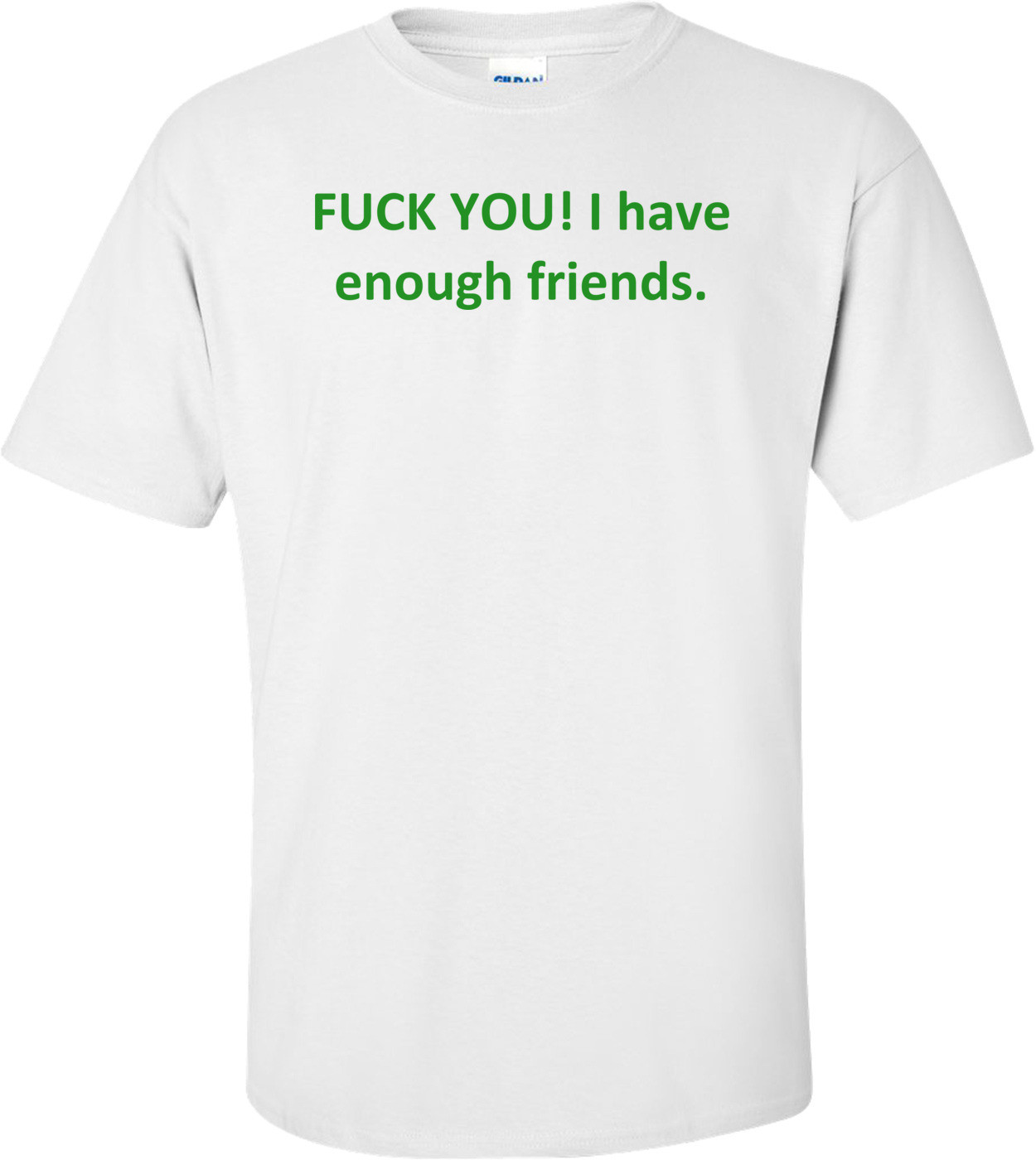 FUCK YOU! I have enough friends. Shirt