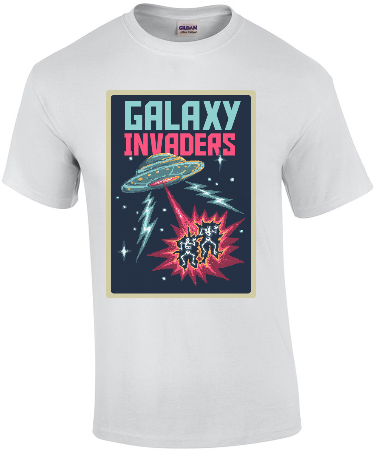 Galaxy Invaders Retro Movie Poster T-Shirt