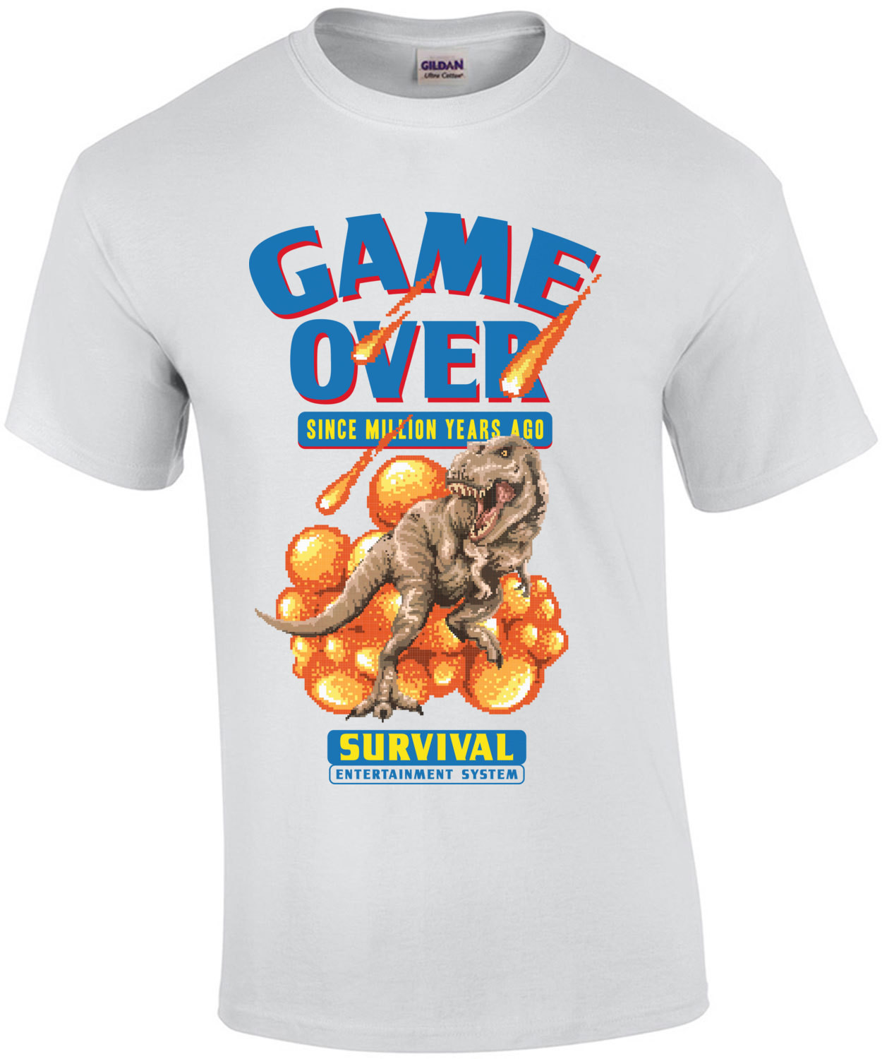 Game Over Retro Dinosaur Parody T-Shirt