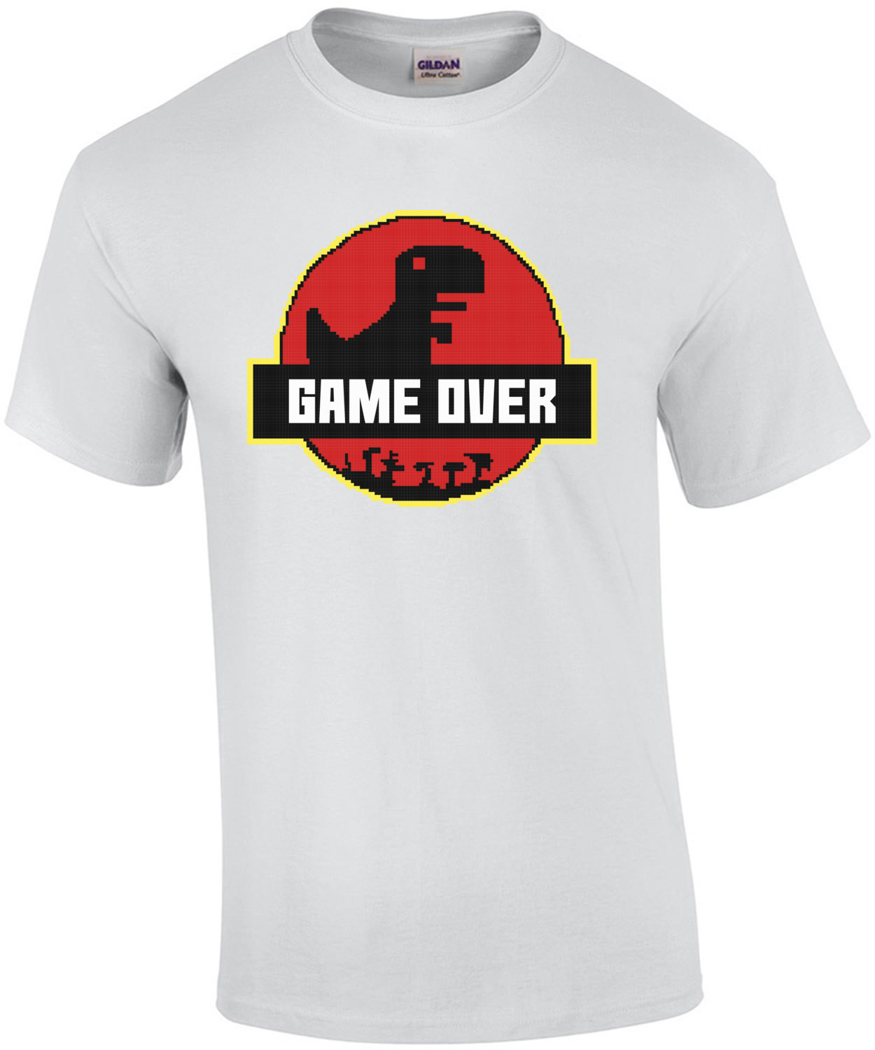 Game Over Retro Jurassic Park Style T-Shirt