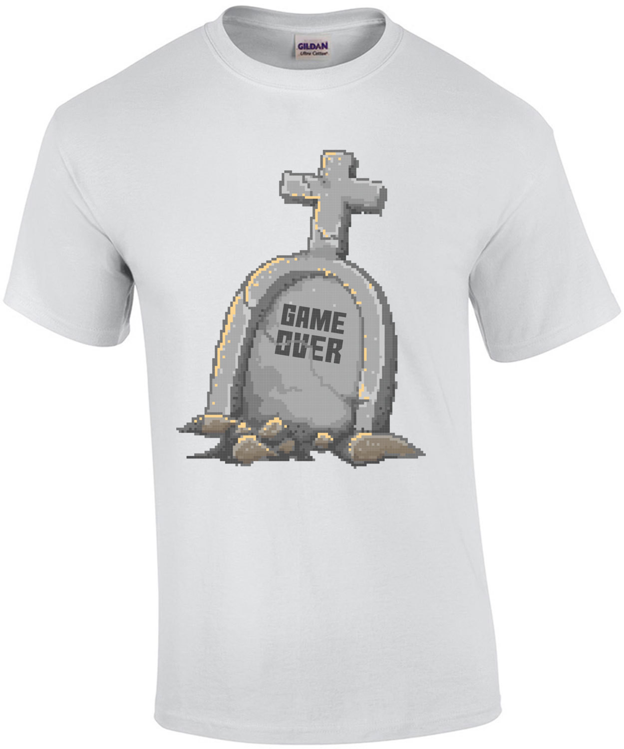 Game Over Retro Tombstone T-Shirt