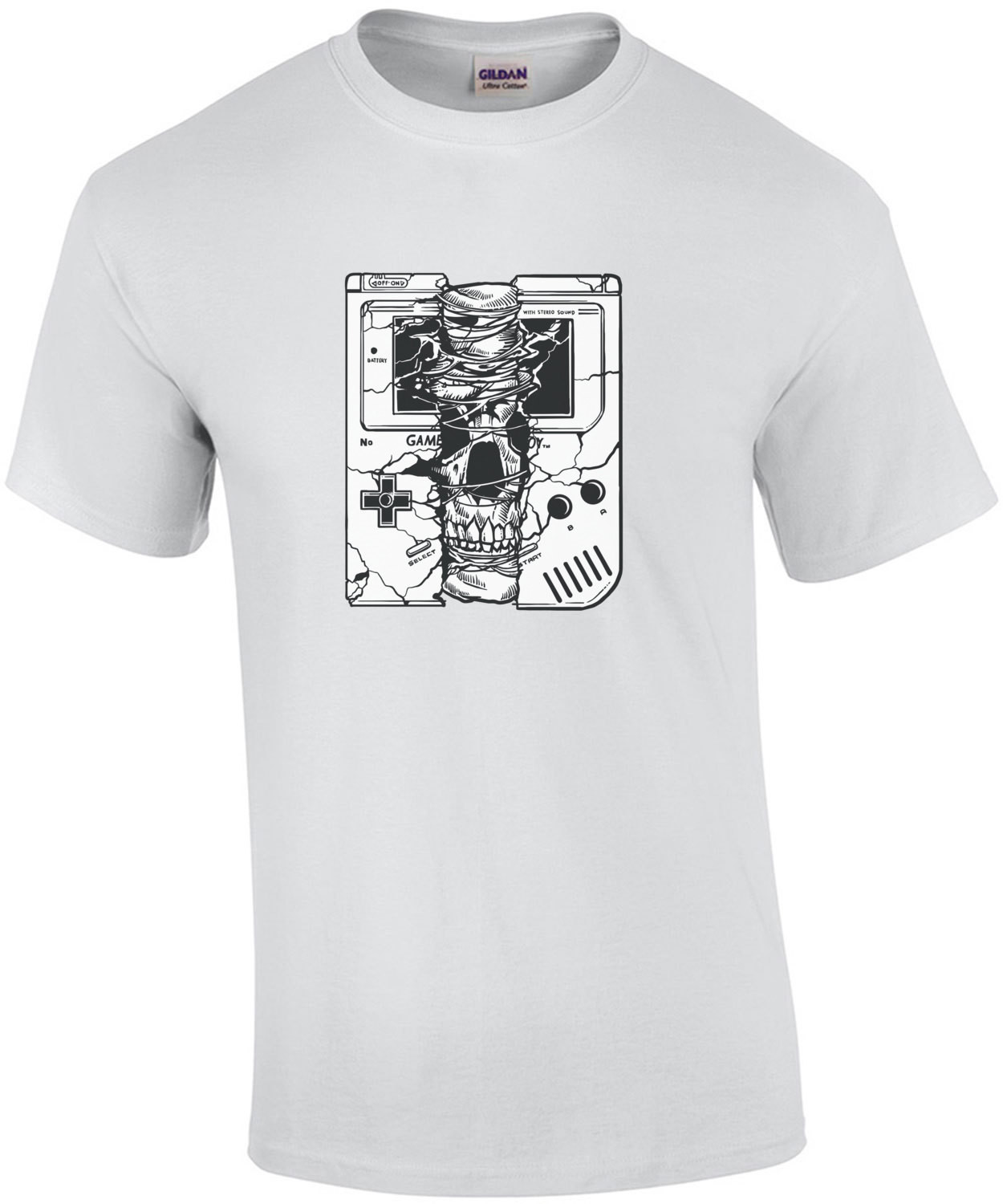 Gameboy Spooky Skull Creepy T-Shirt