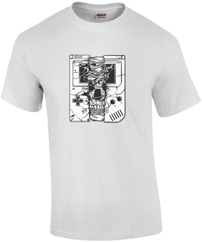 Gameboy Spooky Skull Creepy T-Shirt