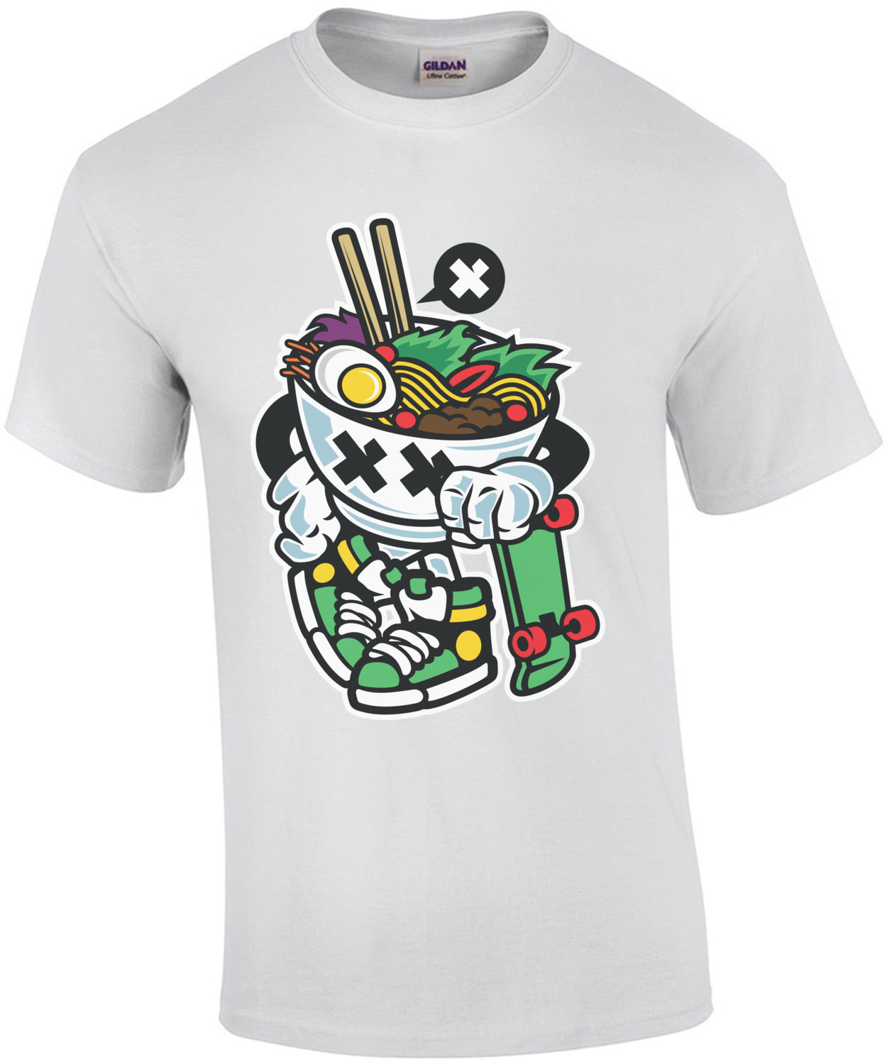 Gangsta Retro Skating Noodles T-Shirt