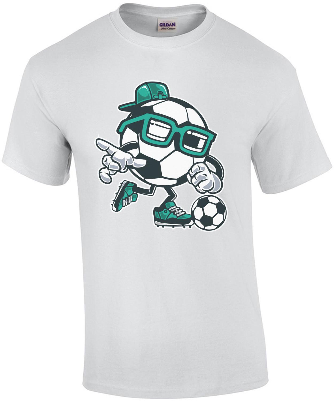 Gangsta Soccer Football Cartoon T-Shirt