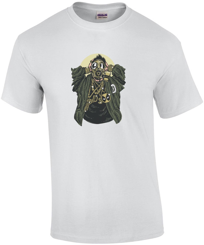 Gangsta Wearing A Gas Mask Apocalyptic T-Shirt