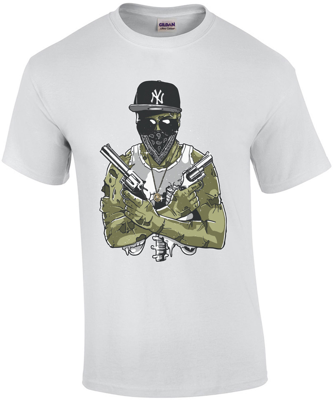 Gangsta Zombie Spooky Apocalyptic T-Shirt