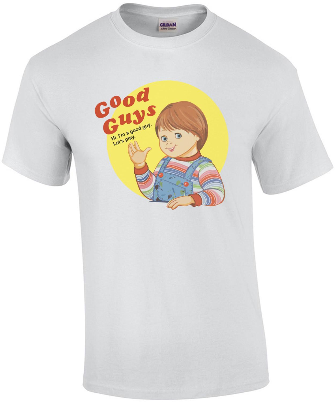 Child's Play - Good Guys - Hi. I'm a good guy. Let's play. Child's Play - Chucky T-Shirt - 80's T-Shirt