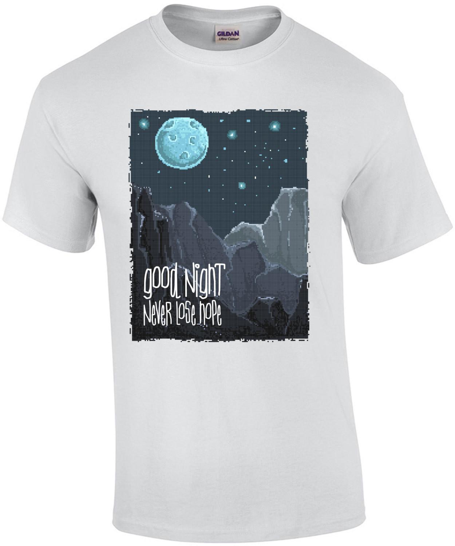 Good Night Never Lose Hope Retro Moon T-Shirt