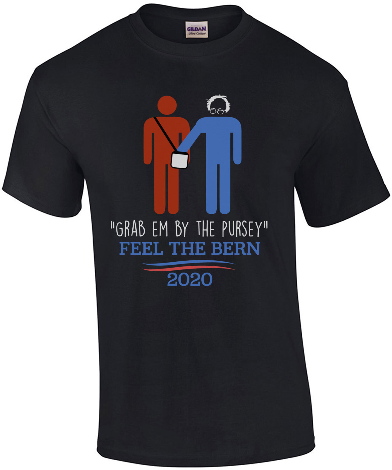 Grab 'Em By The Pursey Anti-Bernie Sanders Funny Political T-Shirt - Election 2020 T-Shirt