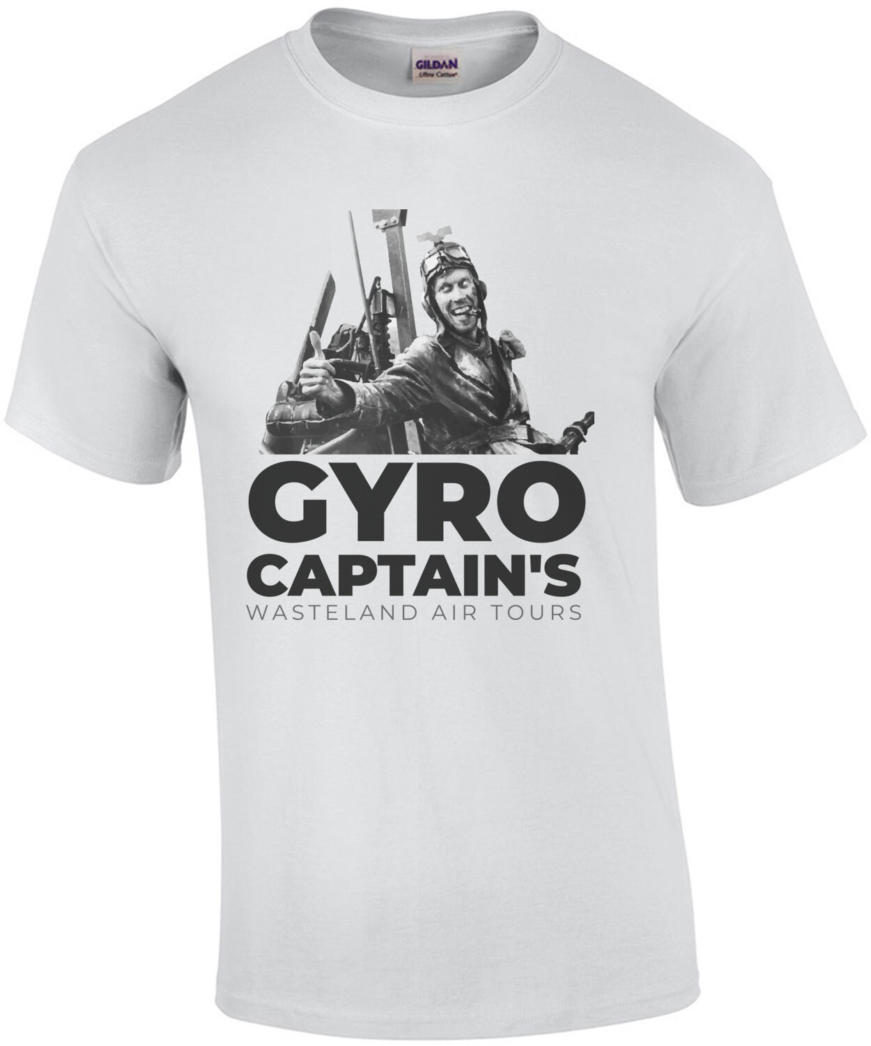 Gyro Captain's Wasteland Air Tours - Mad Max - 80's T-Shirt