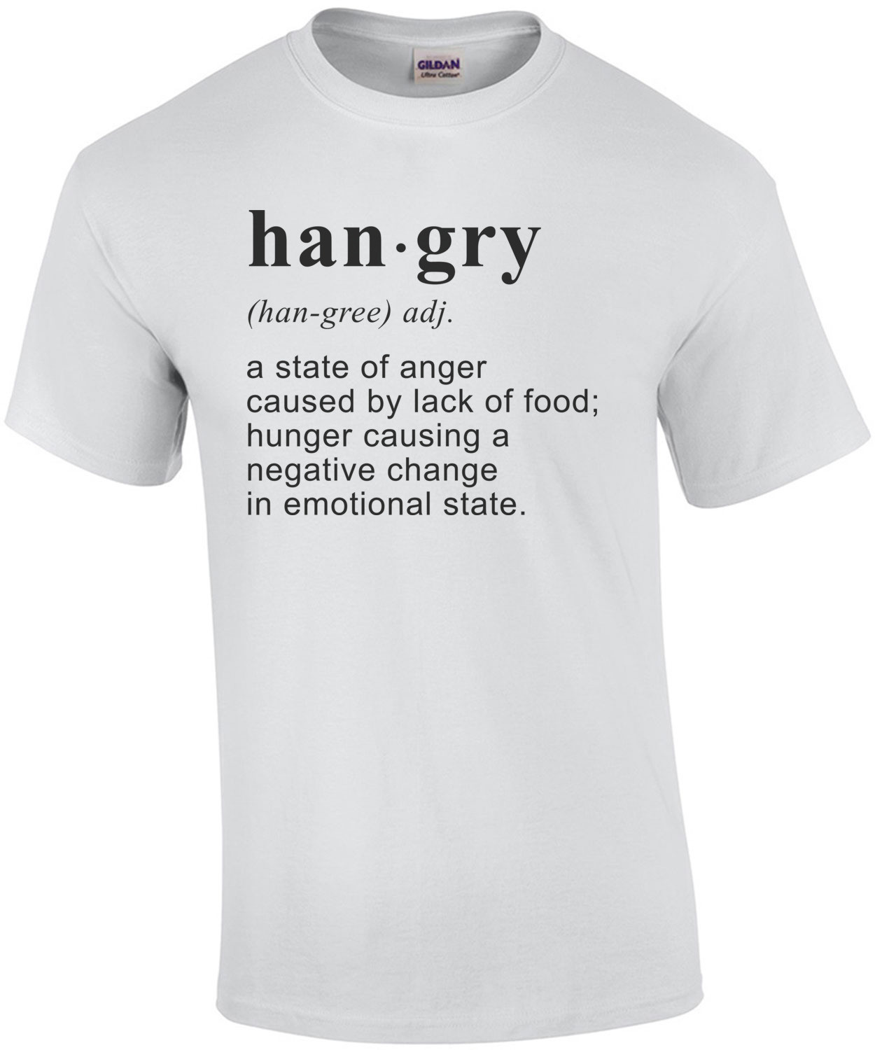 hangry - a state of anger caused by lack of food t-shirt
