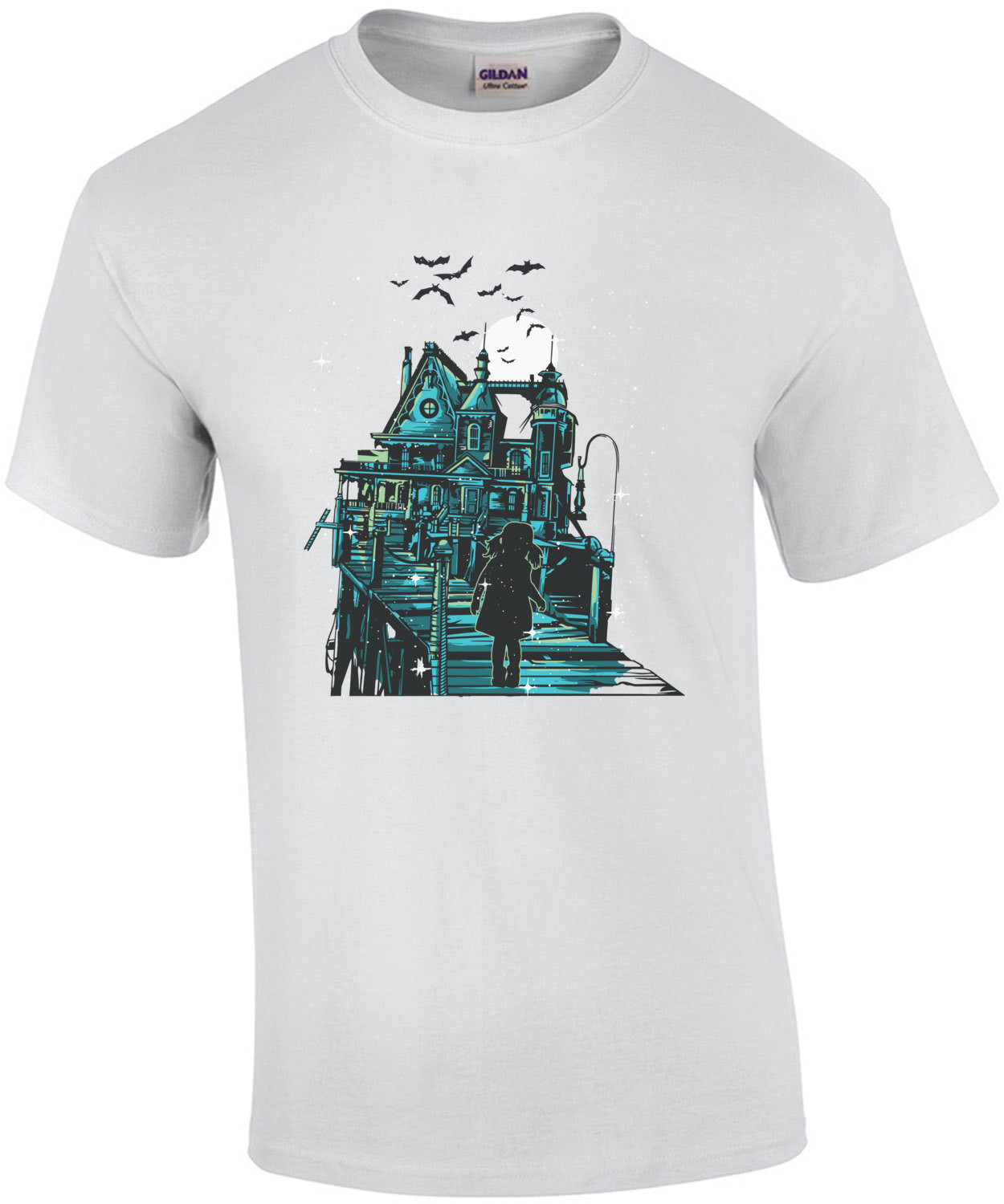Haunted House Spooky Halloween T-Shirt