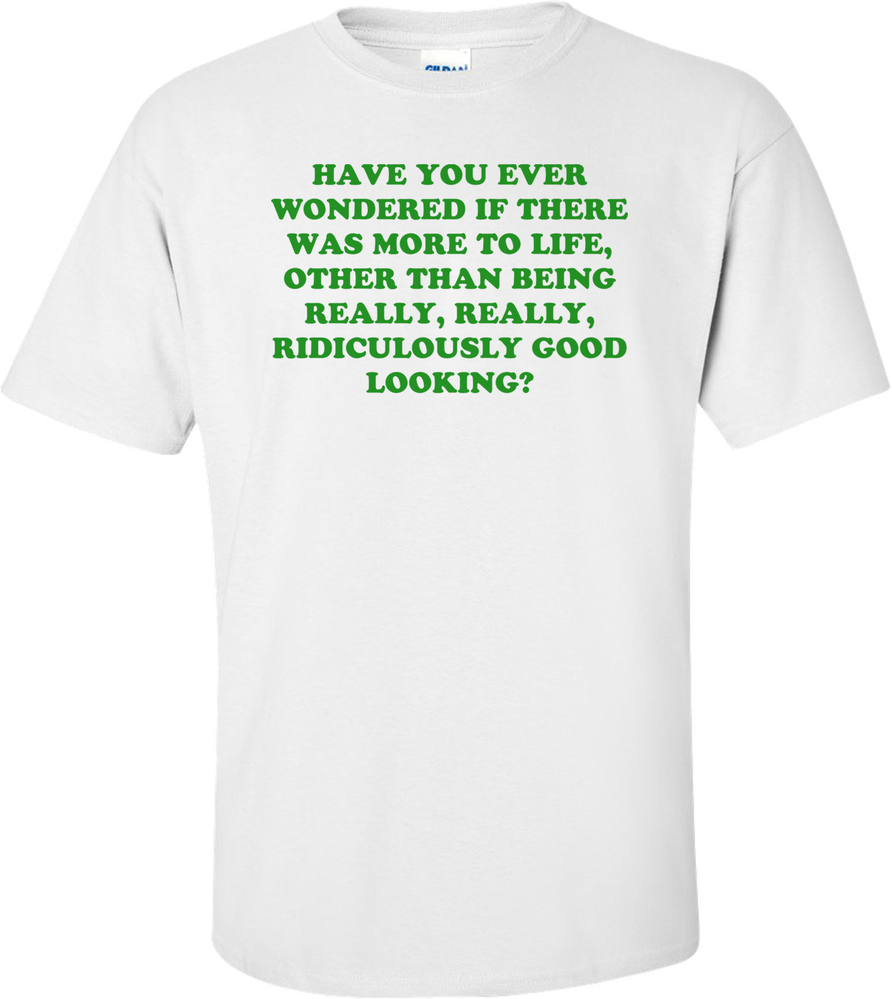 HAVE YOU EVER WONDERED IF THERE WAS MORE TO LIFE, OTHER THAN BEING REALLY, REALLY, RIDICULOUSLY GOOD LOOKING? Shirt