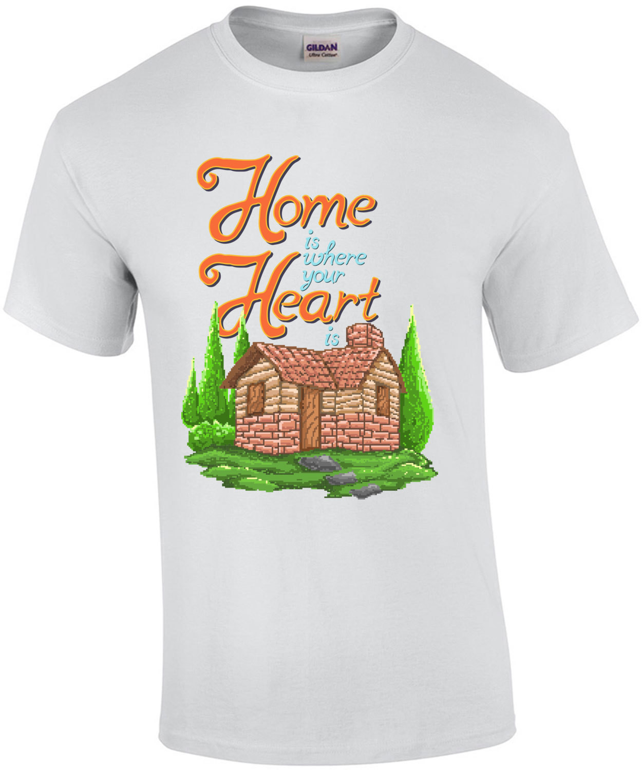 Home Is Where Your Heart Is Retro T-Shirt