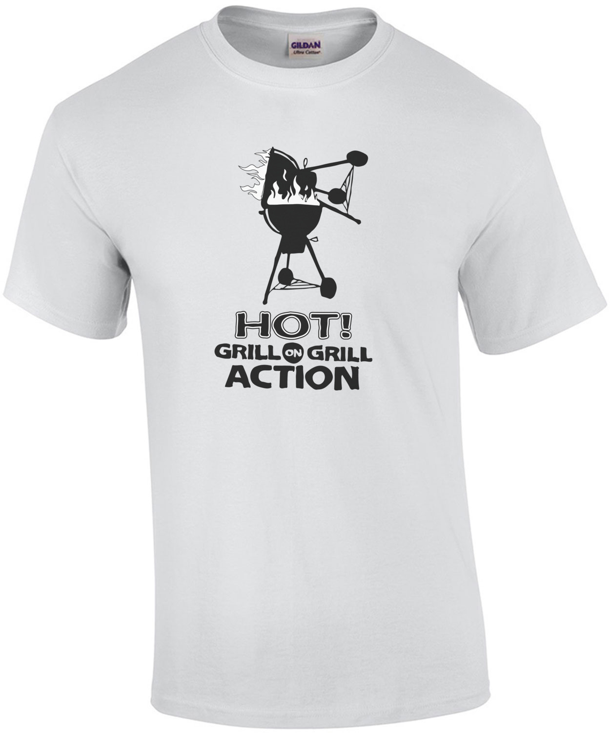 Hot Grill on grill action - t-shirt