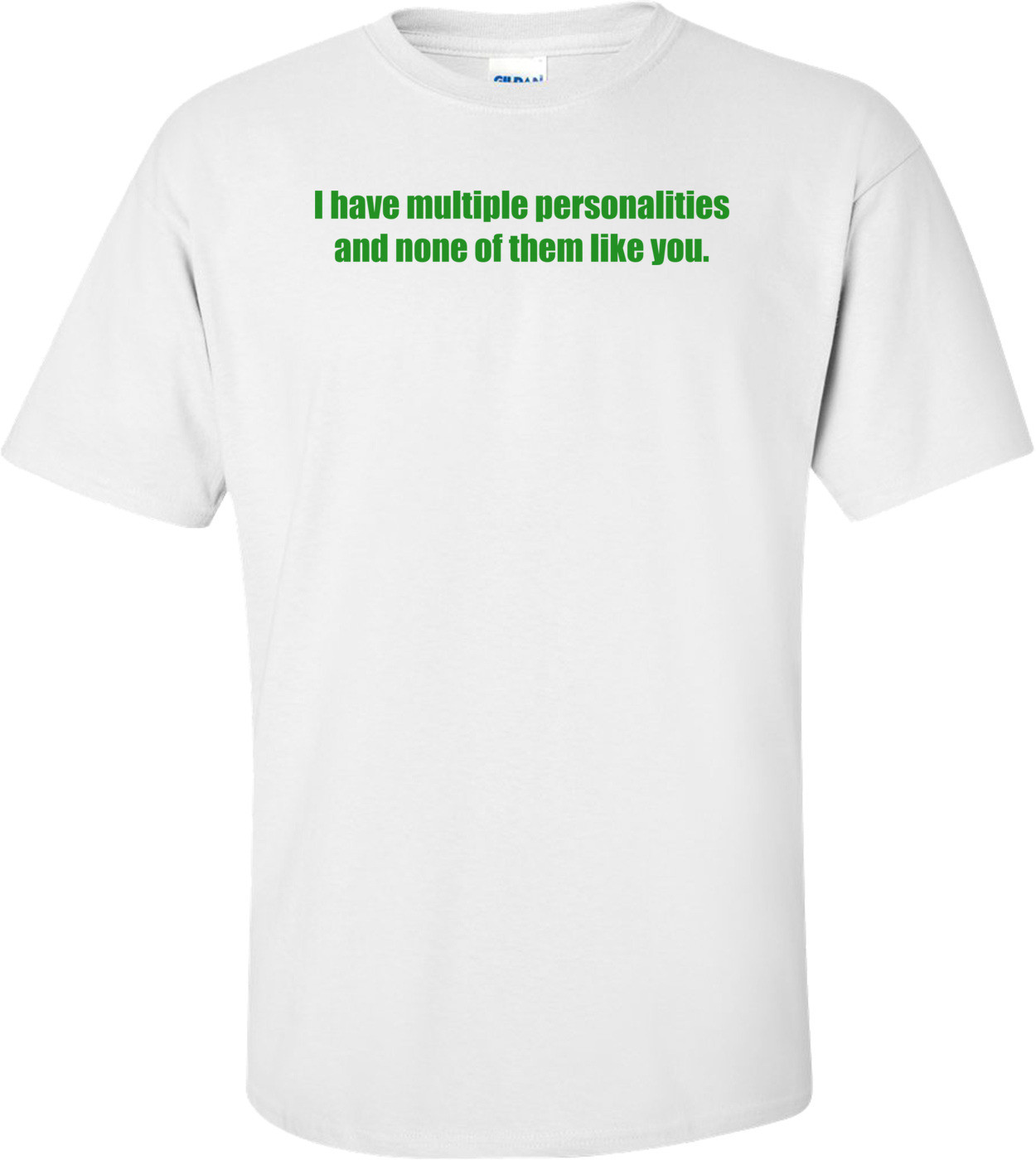 I have multiple personalities and none of them like you. Shirt