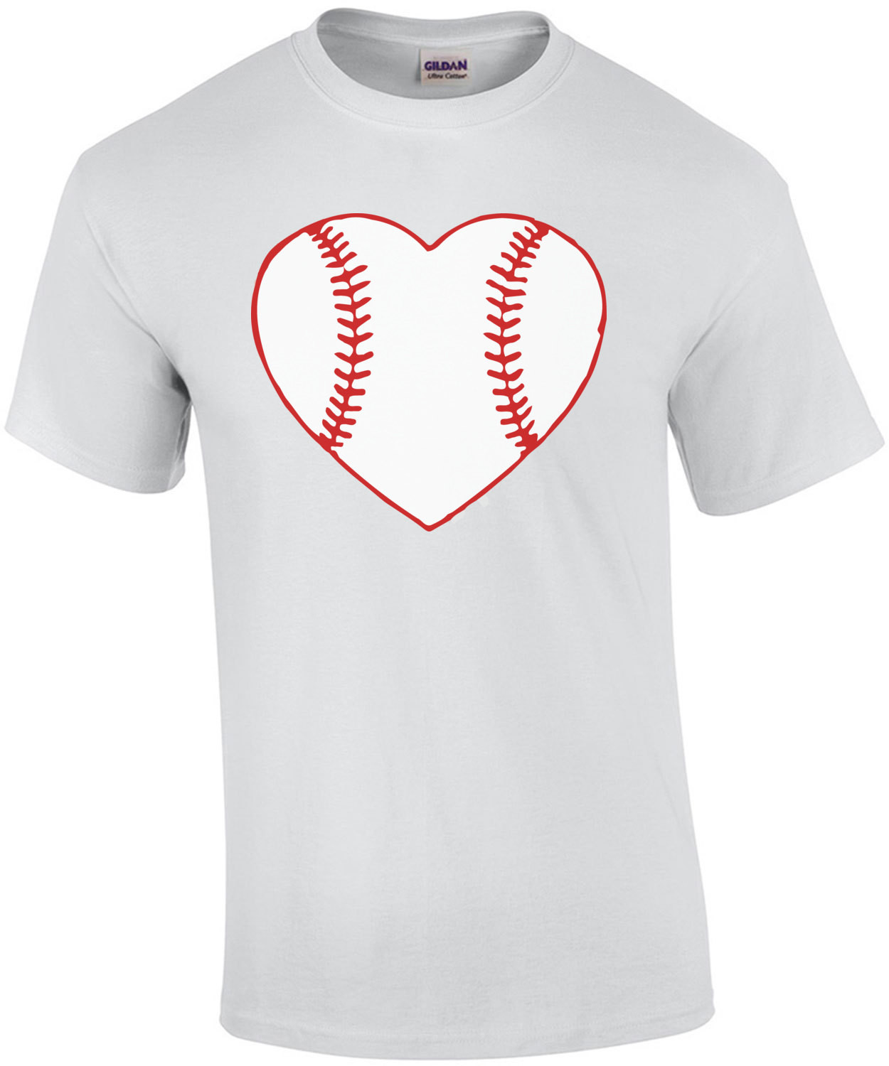 I love baseball - baseball heart t-shirt
