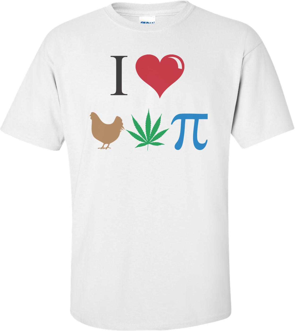 I Love Chicken Pot Pie Funny T-shirt