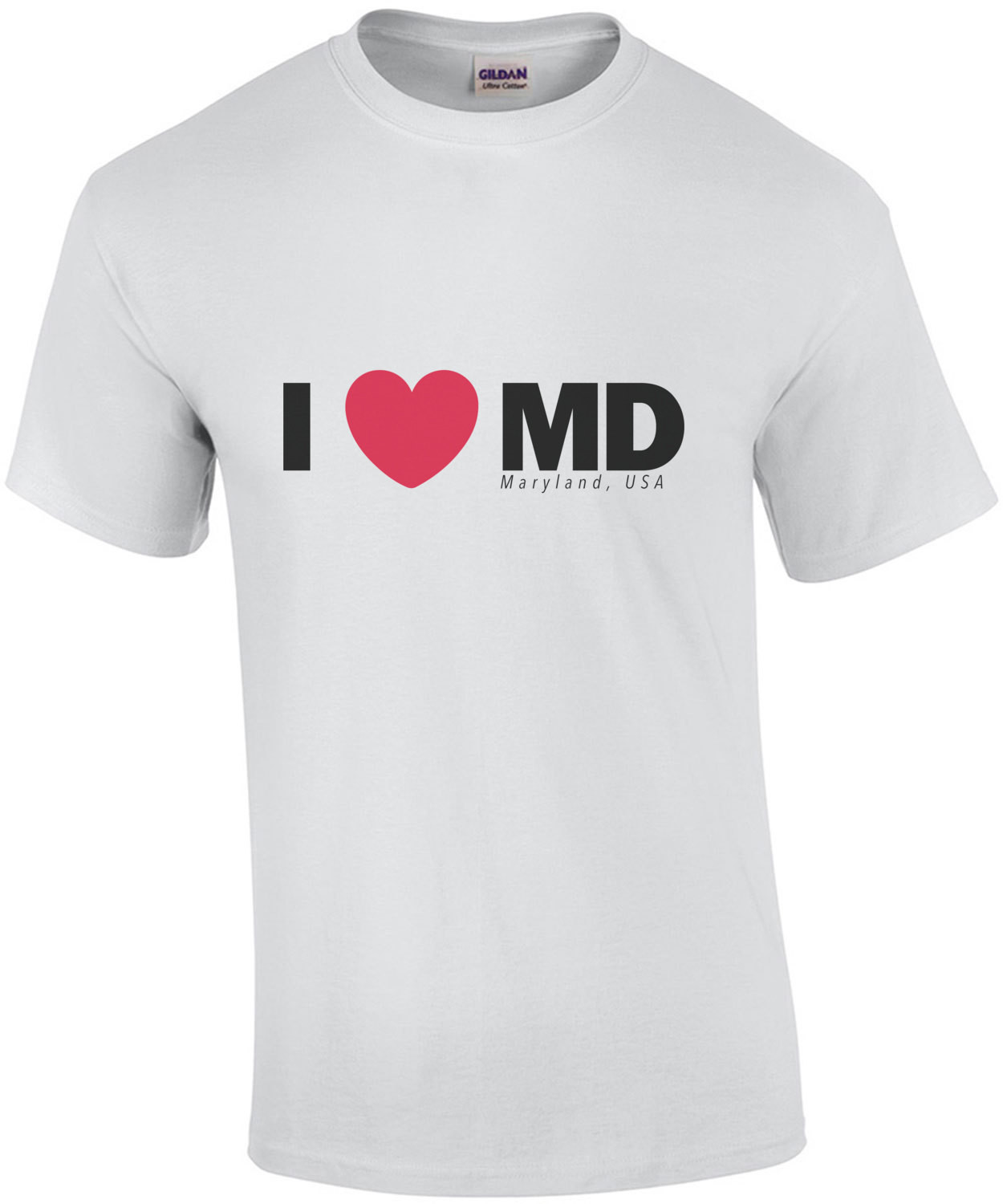 I Love (heart) MD - Maryland T-Shirt