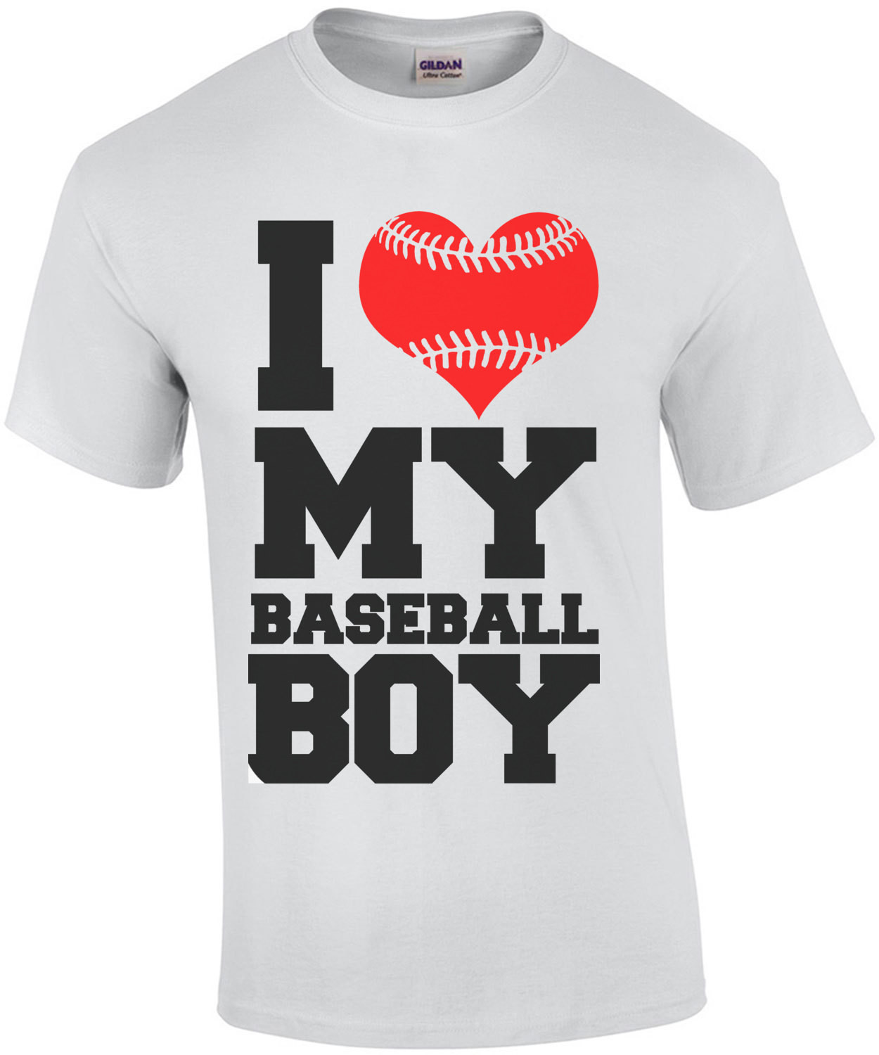 I Love My Baseball Boy T-Shirt