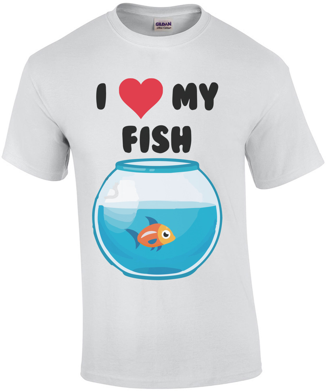 I love my fish - fish t-shirt