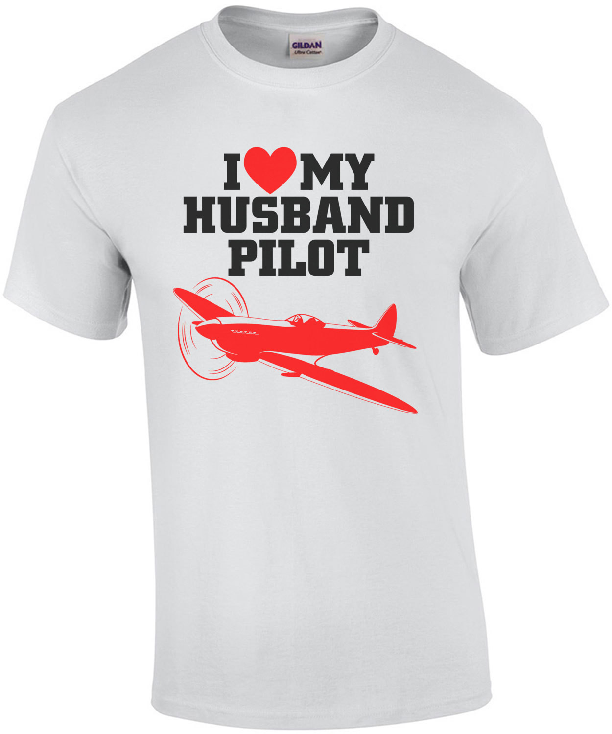 I Love My Husband Pilot T-Shirt