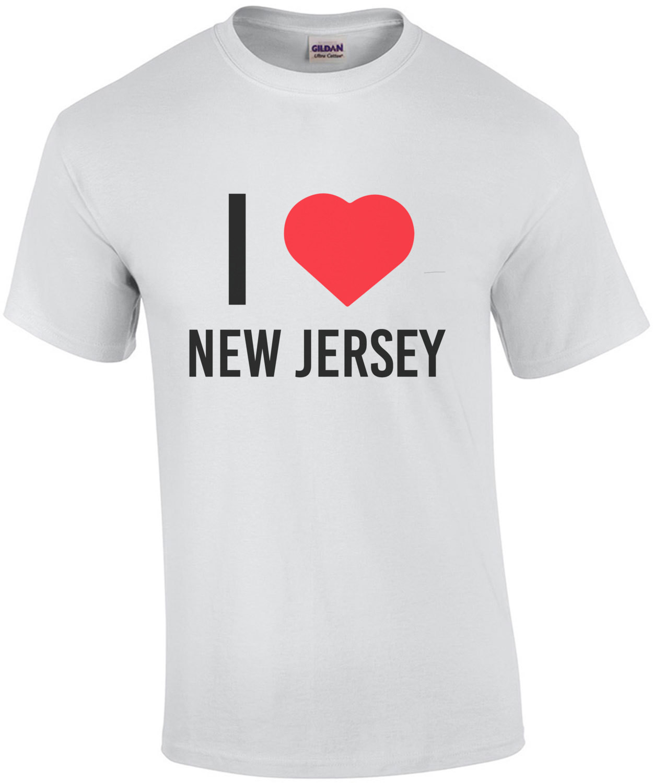 I LOVE New Jersey - New Jersey T-Shirt