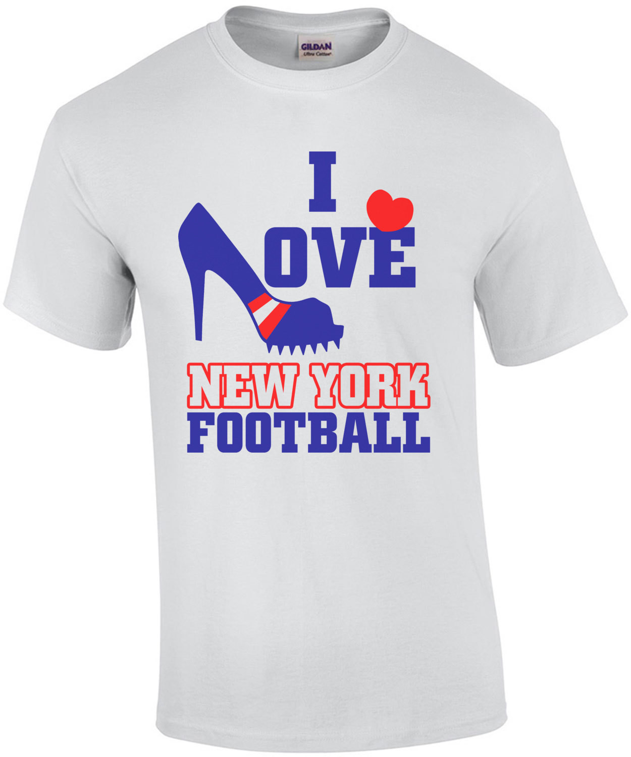 I Love New York Football T-Shirt