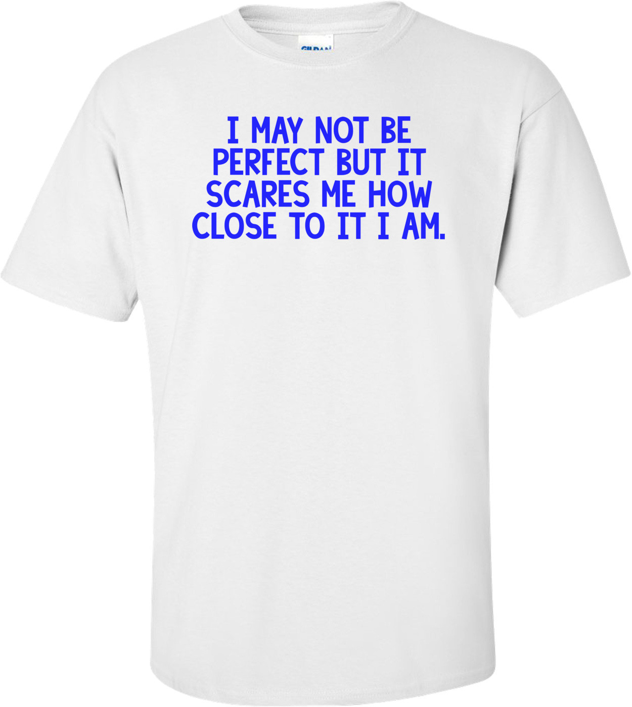 I may not be perfect but it scares me how close to it I am. Shirt