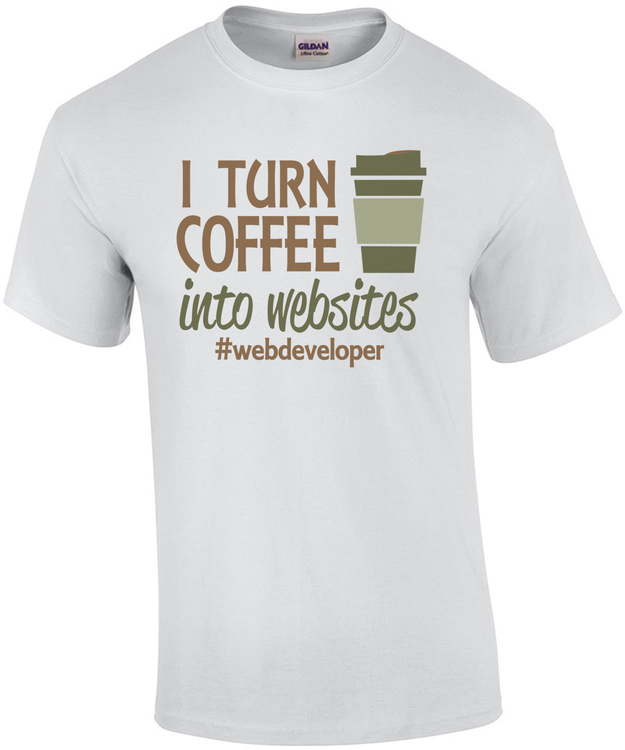I Turn Coffee Into Websites Web Developer T-Shirt