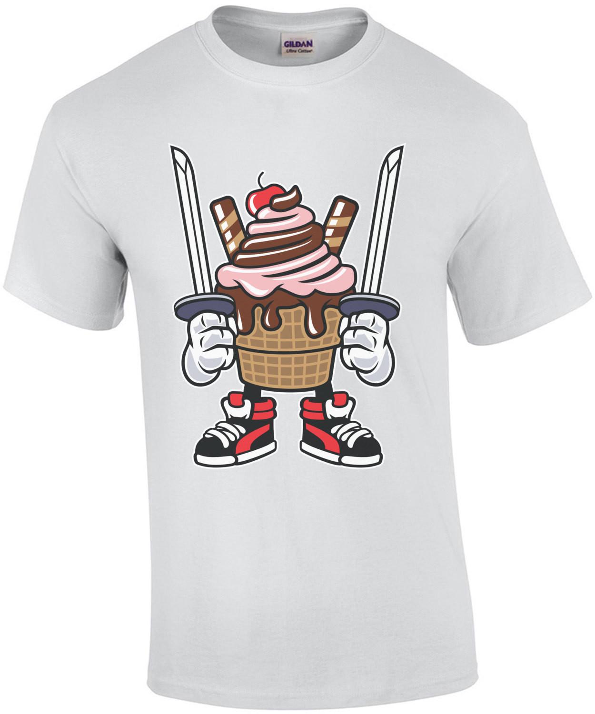 Ice Cream Ninja Vintage T-Shirt