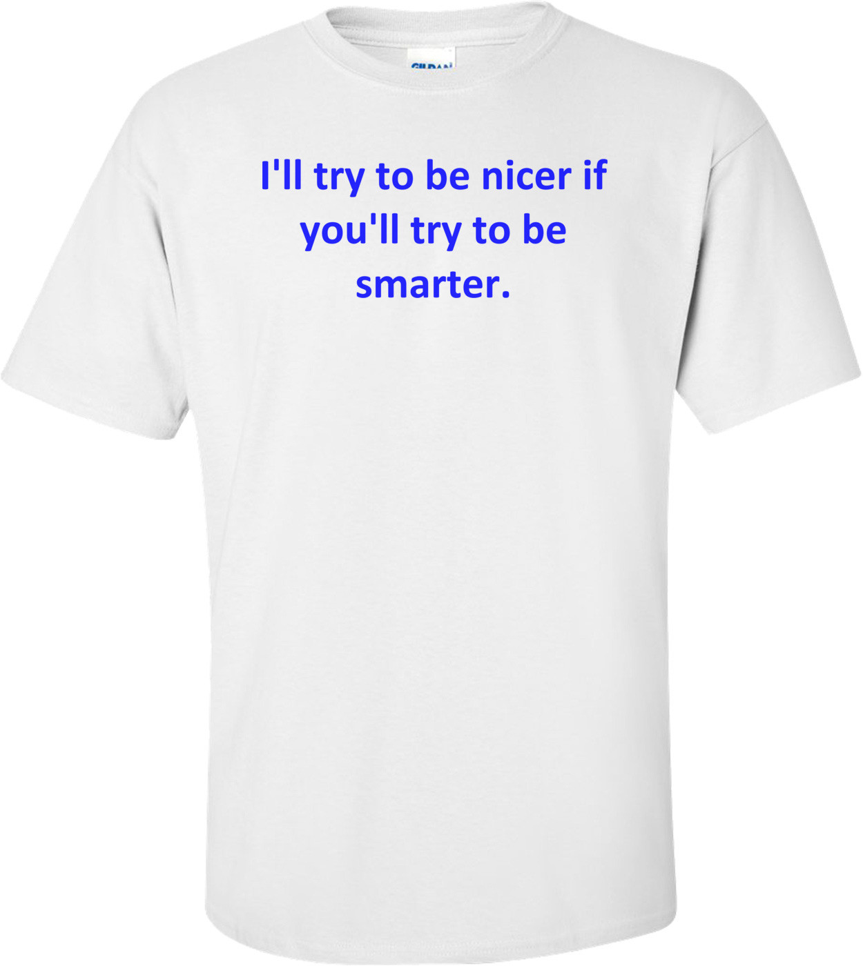 I'll try to be nicer if you'll try to be smarter. Shirt