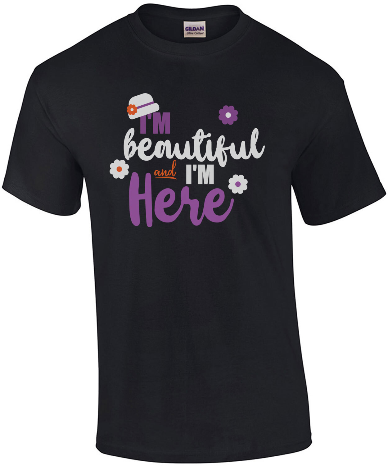 I'm Beautiful and I'm here - The Color Purple - 80's T-Shirt