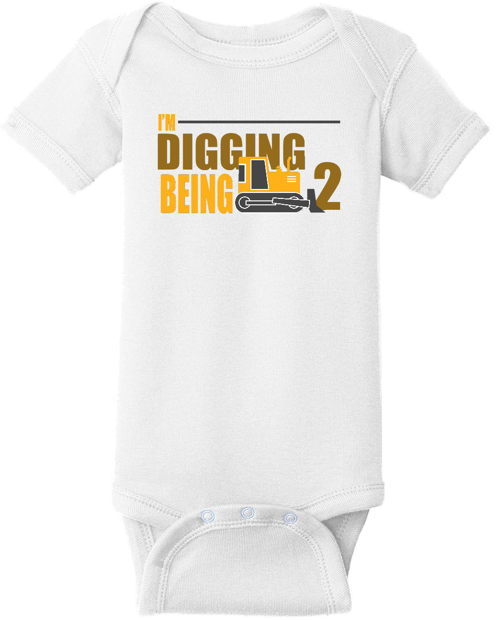I'm digging being 2 - Boys Happy Birthday. Custom T-Shirt with your boys age. Personalized Birthday T-Shirt