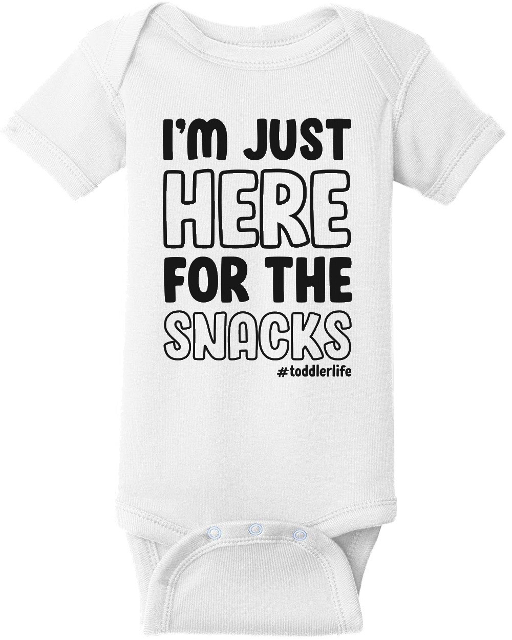 I'm just here for the snacks #toddlerlife - funny kids t-shirt