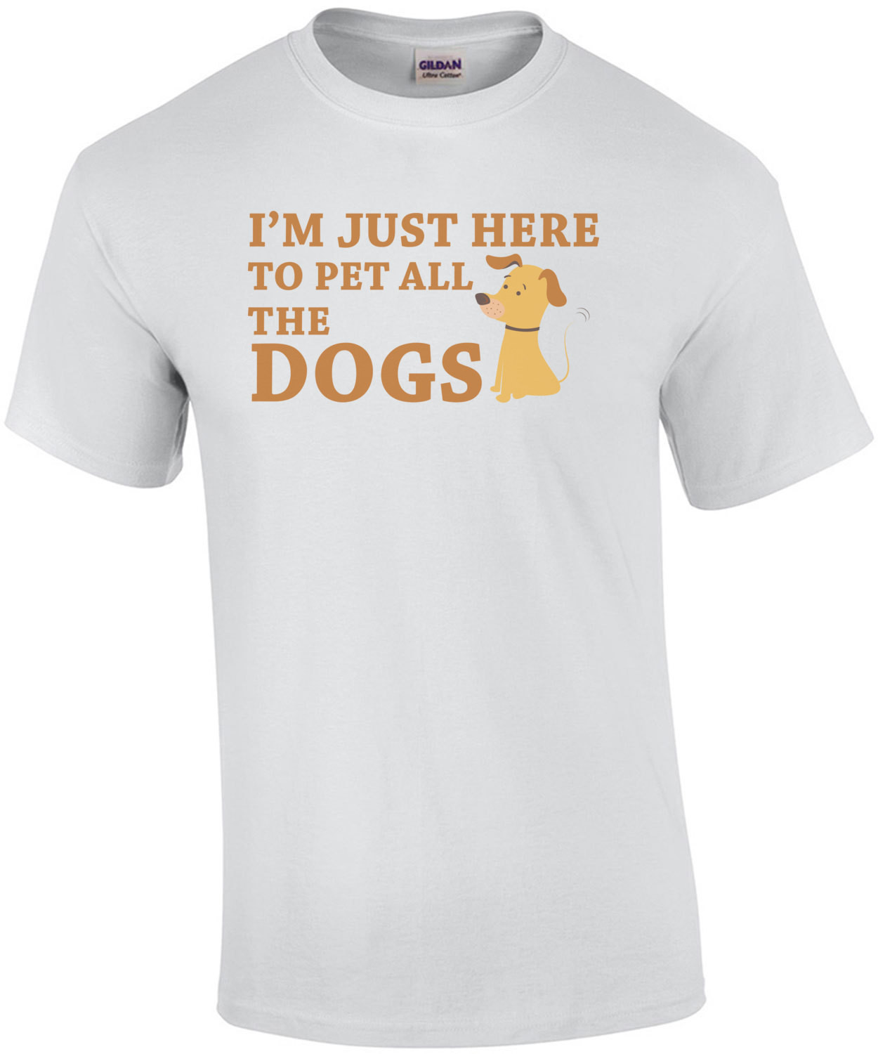 I'm just here to pet all the dogs - dog lover t-shirt